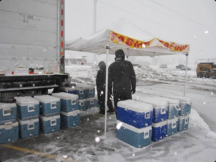 selling in the snow in Minnesota
