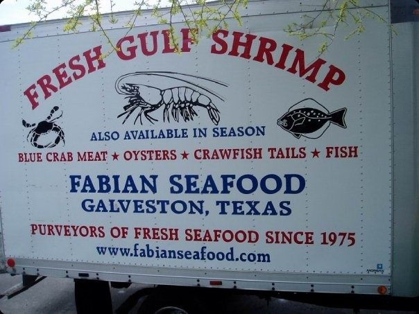 side of one of the smaller shrimp trucks