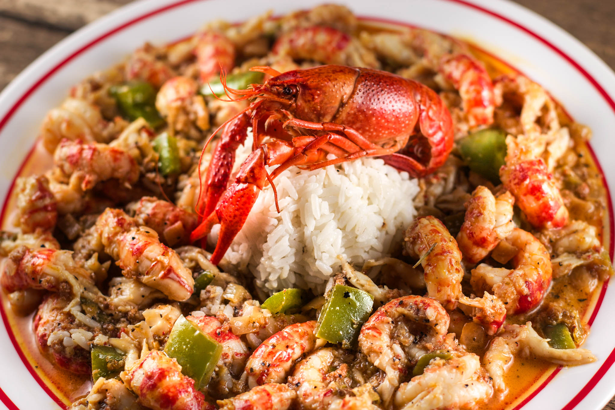 partially-cooked crawfish tailsa